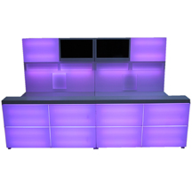 Exclusive LED Bar violett front